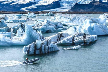 Het schitterende Jökulsárlón gletsjermeer in IJsland