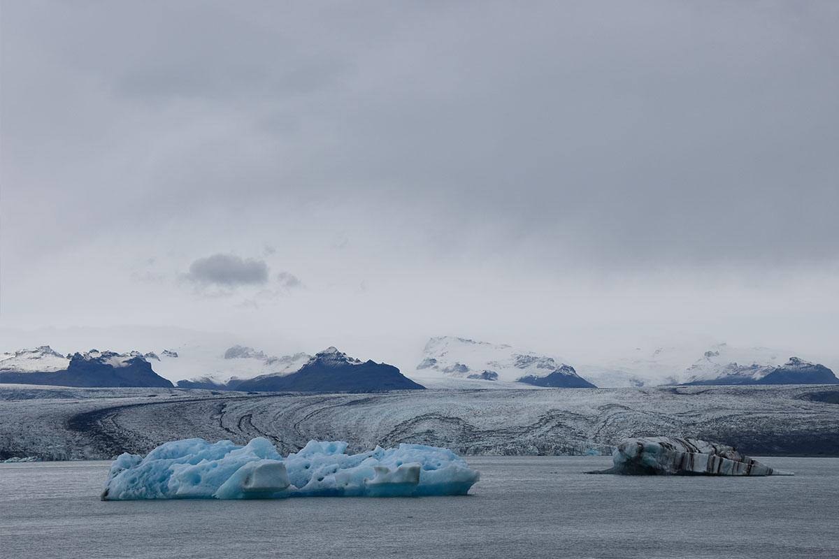 Het Jökulsárlón gletsjermeer in IJsland