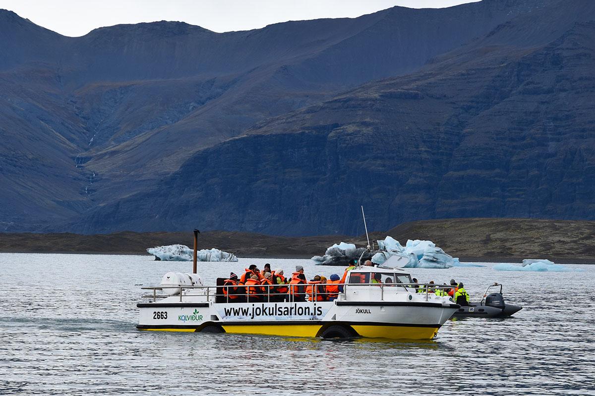 Boottocht over het Jökulsárlón gletsjermeer in IJsland