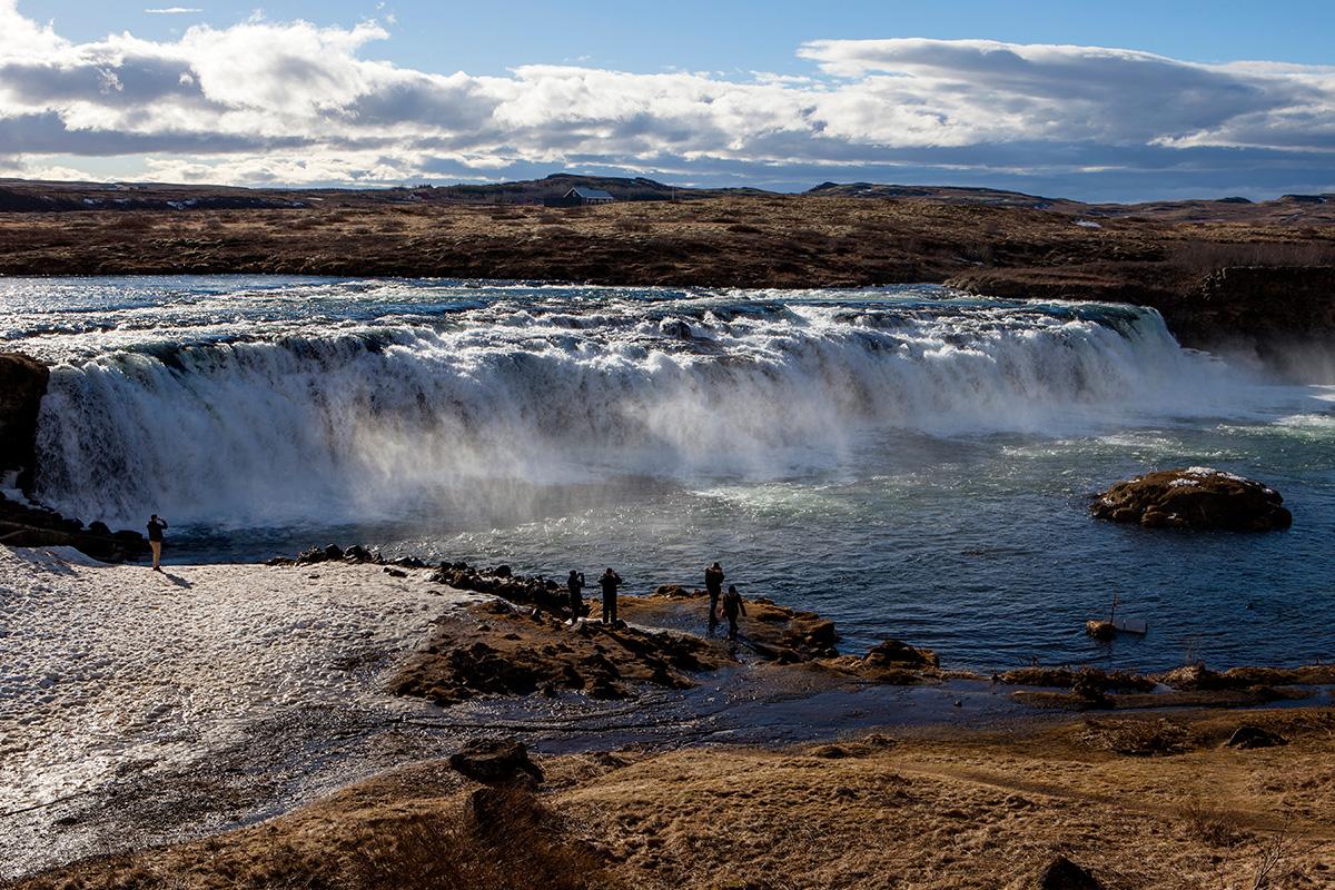 De Faxifoss waterval in IJsland