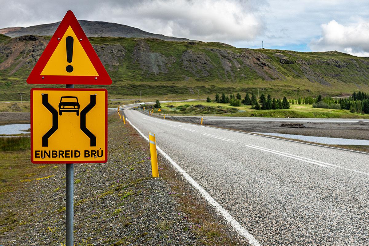 Verkeersborden in IJsland